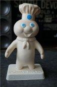 画像1: Pillsbury Poppin' Fresh  Dough Boy ドゥーボーイ ソフビドール 台座付き (1)