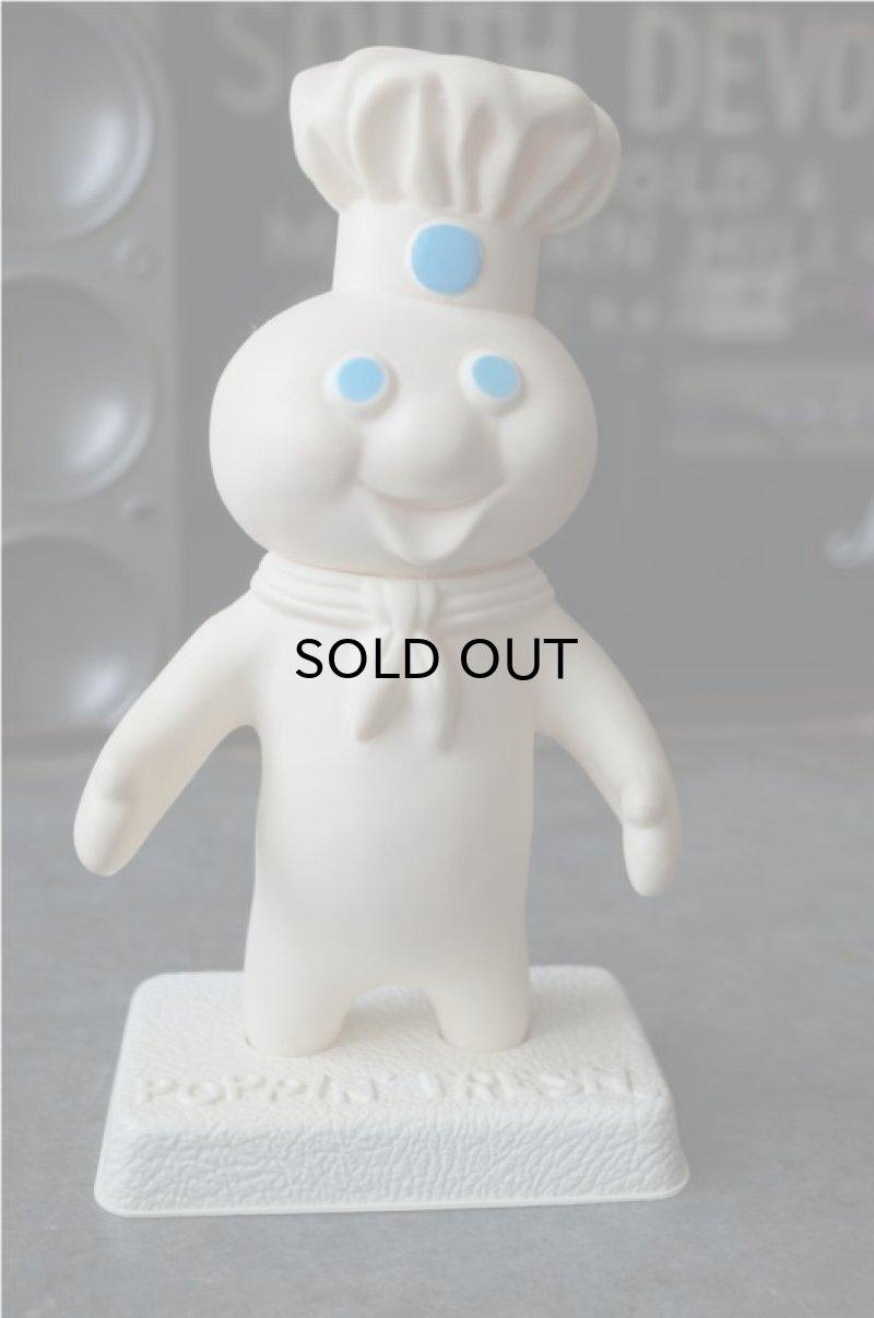 画像1: Pillsbury Poppin' Fresh  Dough Boy ドゥーボーイ ソフビドール 台座付き