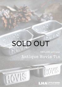 【RARE】 ENGLAND antique HOVIS 業務用パンミニ焼き型 ベーキングティンモールド未使用品 2連 1930's