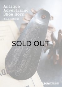 USA antique アドバタイジング Shoe Horn 携帯用 靴べら 1930-50's