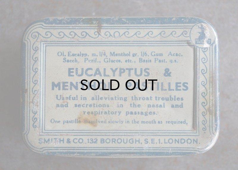 画像2: ENGLAND antique EUCALYPTUS & MENTHOL PASTILLES TIN ブリキ缶 1930-50's