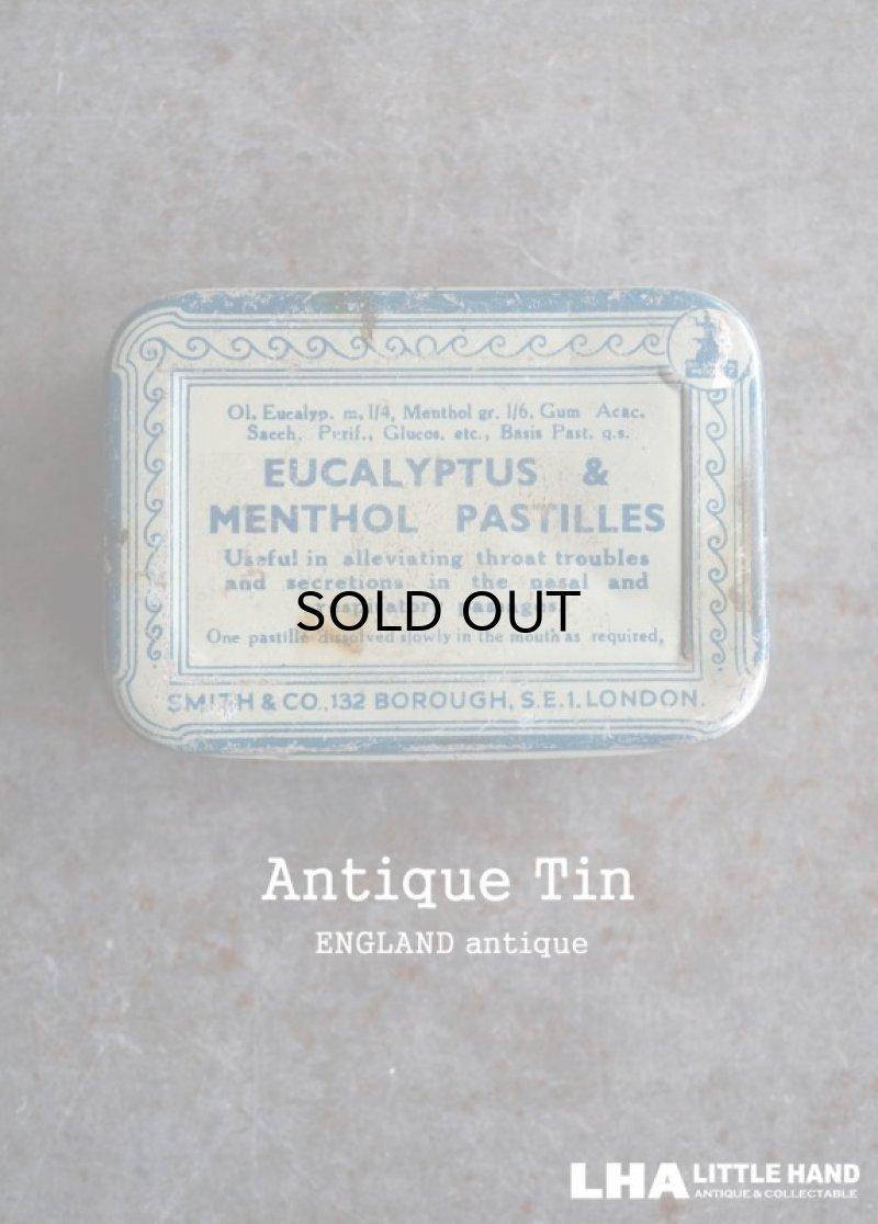 画像1: ENGLAND antique EUCALYPTUS & MENTHOL PASTILLES TIN ブリキ缶 1930-50's
