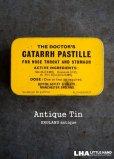 画像1: ENGLAND antique CATARRH PASTILLE TIN ブリキ缶 1950-70's (1)