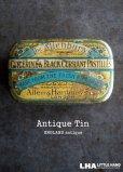 画像1: ENGLAND antique Allenburys GLYCERINE & BLACK CURRANT PASTILLES TIN ブリキ缶 1930's (1)