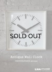 CZECHOSLOVAKIA antique PRAGOTRON wall clock パラゴトロン社 掛け時計 クロック 33.5cm 1980-90's