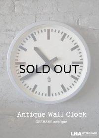 GERMANY antique GW [Gerätewerk Leipzig] wall clock アンティーク 掛け時計 クロック 37cm 1960's インダストリアル 工業系