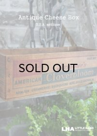 USA antique アメリカアンティーク Armour's Cloverbloom 木製 チーズボックス 5LBS 木箱 WOOD BOX 1920-40's