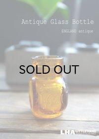 ENGLAND antique イギリスアンティーク Vigorol H4.5cm 小さなガラスボトル アンバーガラスボトル 瓶 1920's