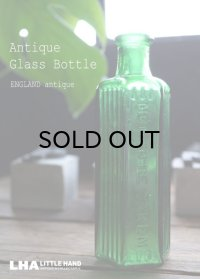 ENGLAND antique イギリスアンティーク NOT TO BE TAKEN ガラスボトル[4oz] H13.6cm ガラス瓶 1900-20's