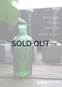 ENGLAND antique イギリスアンティーク NOT TO BE TAKEN ガラスボトル[1oz] H8.8cm ガラス瓶 1900-20's