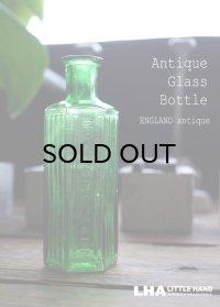 ENGLAND antique イギリスアンティーク NOT TO BE TAKEN ガラスボトル[2oz] H10.7cm ガラス瓶 1900-20's
