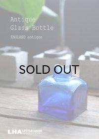 【RARE】ENGLAND antique イギリスアンティーク インクボトル コバルトブルー ガラスボトル 瓶 1890-1910's