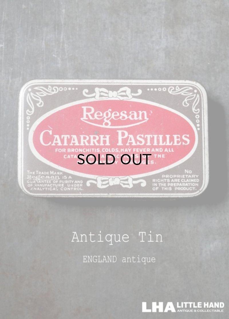 画像1: ENGLAND antique イギリスアンティーク Boots CATARRH PASTILLES ティン缶 ブリキ缶 1920-30's