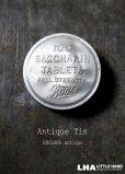 画像1: ENGLAND antique イギリスアンティーク Boots SACCHARIN TABLETS 小さなアルミケース 4.2cm アルミ缶 1930-60's (1)