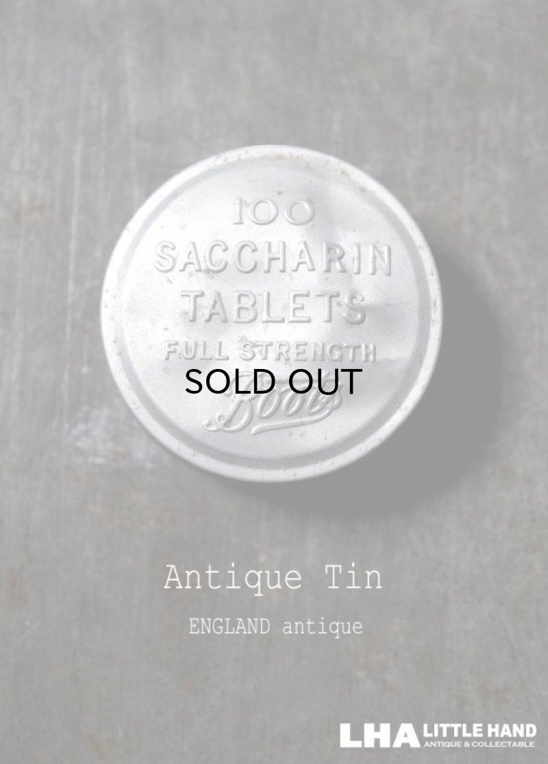 画像1: ENGLAND antique イギリスアンティーク Boots SACCHARIN TABLETS 小さなアルミケース 4.2cm アルミ缶 1930-60's