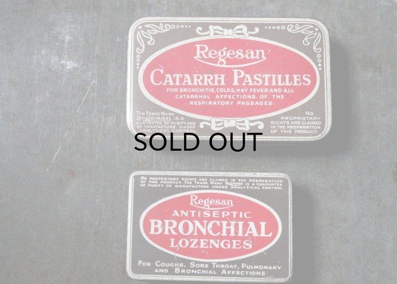 画像4: ENGLAND antique イギリスアンティーク Boots CATARRH PASTILLES ティン缶 ブリキ缶 1920-30's