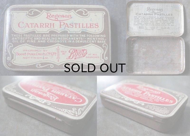画像3: ENGLAND antique イギリスアンティーク Boots CATARRH PASTILLES ティン缶 ブリキ缶 1920-30's