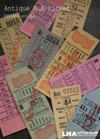 ENGLAND antique LONDON イギリスアンティーク バスチケット10枚セット ヴィンテージチケット乗車券  1920-70's