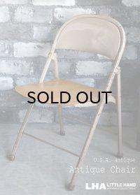 U.S.A. antique AMERICAN SEATING COMPANY FOLDING CHAIR アメリカアンティーク フォールディングチェア 折りたたみ椅子 1920-40's