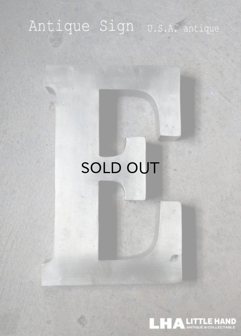 画像1: USA antique アメリカアンティーク メタル アルファベット レターサイン 【E】(H25.4cm) 1950-70's