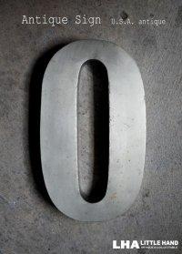 USA antique アメリカアンティーク メタル アルファベット レターサイン 【O】(H25.4cm) 1950-70's