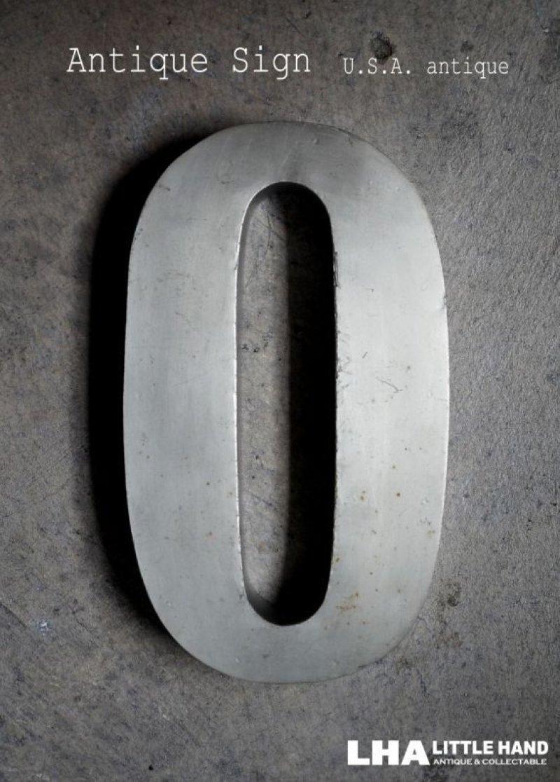 画像1: USA antique アメリカアンティーク メタル アルファベット レターサイン 【O】(H25.4cm) 1950-70's