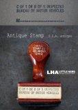 画像1: USA antique Wood handle STAMP アメリカアンティーク 木製ハンドル スタンプ オフィス事務 ヴィンテージスタンプ 1970-90's (1)