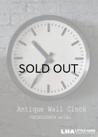 CZECHOSLOVAKIA antique PRAGOTRON wall clock チェコスロバキアアンティーク パラゴトロン社 掛け時計 ラージサイズ クロック 49cm 1970's