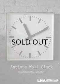 CZECHOSLOVAKIA antique PRAGOTRON wall clock チェコスロバキアアンティーク パラゴトロン社 掛け時計 ラージサイズ クロック 43.5cm 1980-90's
