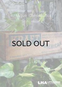 USA antique アメリカアンティーク KRAFT クラフト 木製 チーズボックス 5LBS 木箱 WOOD BOX 1920-40's