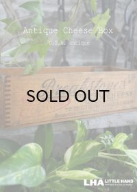 USA antique CHEESE BOX Breakstone's アメリカアンティーク 木製 チーズボックス 木箱