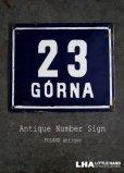画像1: POLAND antique ポーランドアンティーク ホーロー ハウスナンバープレート サインプレート ナンバーサイン 看板 エナメル【23】1930-50's (1)