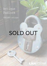 ENGLAND antique イギリスアンティーク クマ型 SQUIRE 440  刻印入 パドロック 鍵付 南京錠 1920-40's