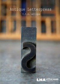 U.S.A. antique アメリカアンティーク 木製プリンターブロック【s】 H4.2cm スタンプ はんこ 数字 1900-40's