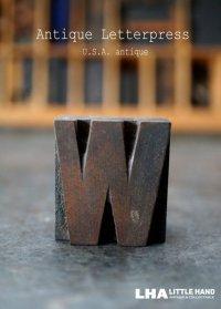 U.S.A. antique アメリカアンティーク 木製プリンターブロック【W】 H3.4cm スタンプ はんこ 数字 1900-40's