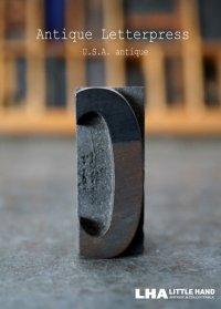 U.S.A. antique アメリカアンティーク 木製プリンターブロック【C】 H4.2cm スタンプ はんこ 数字 1900-40's