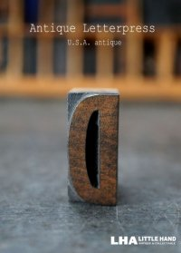 U.S.A. antique アメリカアンティーク 木製プリンターブロック【D】 H3.4cm スタンプ はんこ 数字 1900-40's