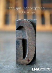 U.S.A. antique アメリカアンティーク 木製プリンターブロック【G】 H4.2cm スタンプ はんこ 数字 1900-40's