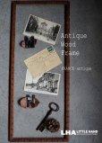 画像2: FRANCE antique フランスアンティーク WOOD FRAME 素敵な装飾 木製フレーム ピクチャーフレーム 額 枠 1900-30's (2)