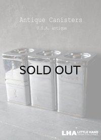 SALE 【20%OFF】 U.S.A. antique アメリカアンティーク Beautyware クロム キャニスター 4SET ヴィンテージ ミッドセンチュリー  1950-60's