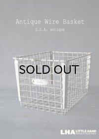 U.S.A. antique Wire Basket アメリカアンティーク THE WASHBURN COMPANY ナンバータグ付き ワイヤーバスケット 1940-50's