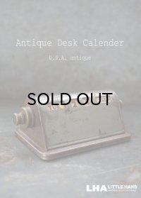 USA antique アメリカアンティーク 真鍮 デスクカレンダー 1940-60's 卓上カレンダー 暦