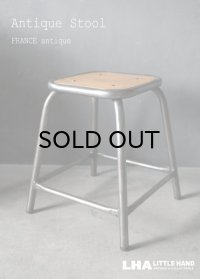 FRANCE antique ARMY STOOL ・ARMY CHAIR フランスアンティーク  フランス軍 アーミー スツール チェア アイアン 鉄 1950-60's