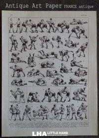 FRANCE antique ART PAPER  フランスアンティーク 辞書・図鑑の1ページ [戦い] 描画 アンティークアート 1930's