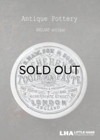 ENGLAND antique イギリスアンティーク CHERRY TOOTH PASTE トゥースペーストジャー 陶器ポット 1890's
