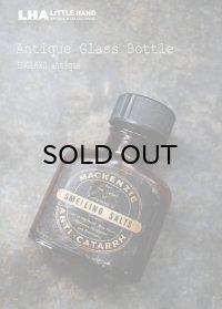 ENGLAND antique イギリスアンティーク ラベル・キャップ付き ガラスボトル H6.7cm ガラス瓶 1930-40's