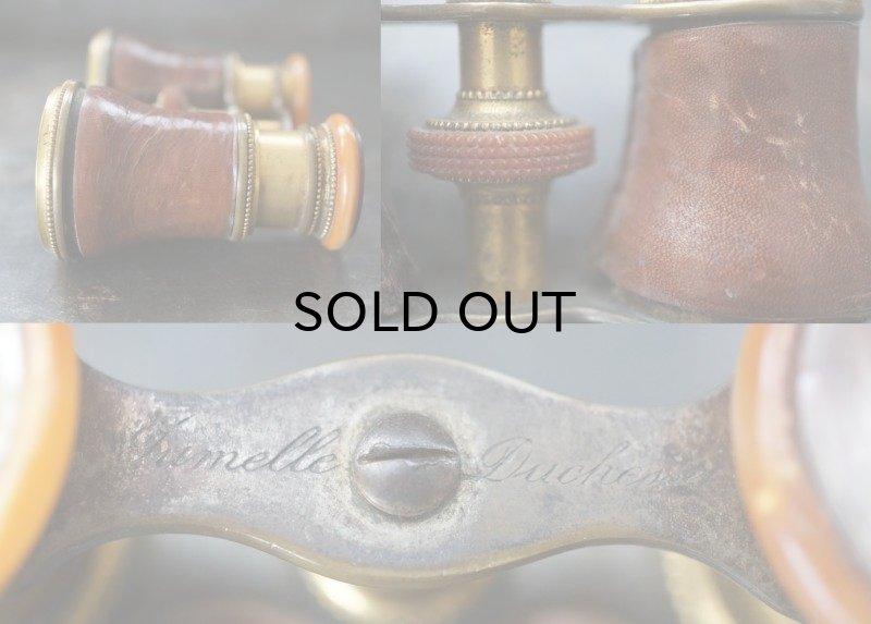 画像4: ENGLAND antique イギリスアンティーク 真鍮・レザーカバー オペラグラス ブラス Opera Glasses 双眼鏡 1900-30's