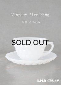【Fire-king】 ファイヤーキング ホワイト バブル カップ&ソーサー 1941-68's