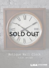 U.S.A. antiqueThe Standard Electric time co. wall clock アメリカアンティーク 掛け時計 スクール ヴィンテージ クロック 40cm 1920-30's