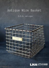 U.S.A. antique Wire Basket アメリカアンティーク AMERICAN WIRE FORM CO. ナンバータグ付き ワイヤーバスケット 1940-50's